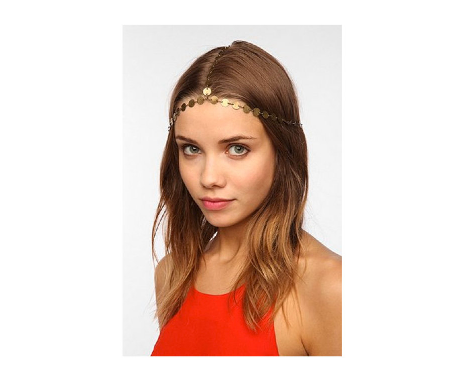 Rouelle DION Headpiece: 3 Strand Coin Headpiece