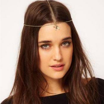 HUGE SALE Rouelle NOAH Headpiece: 3 Strand Dove Headband, head piece, hair chain, hair piece, head chain